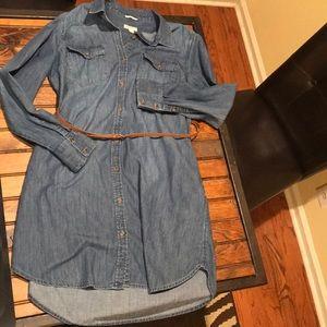 Merona Denim Dress with Belt. Size XL